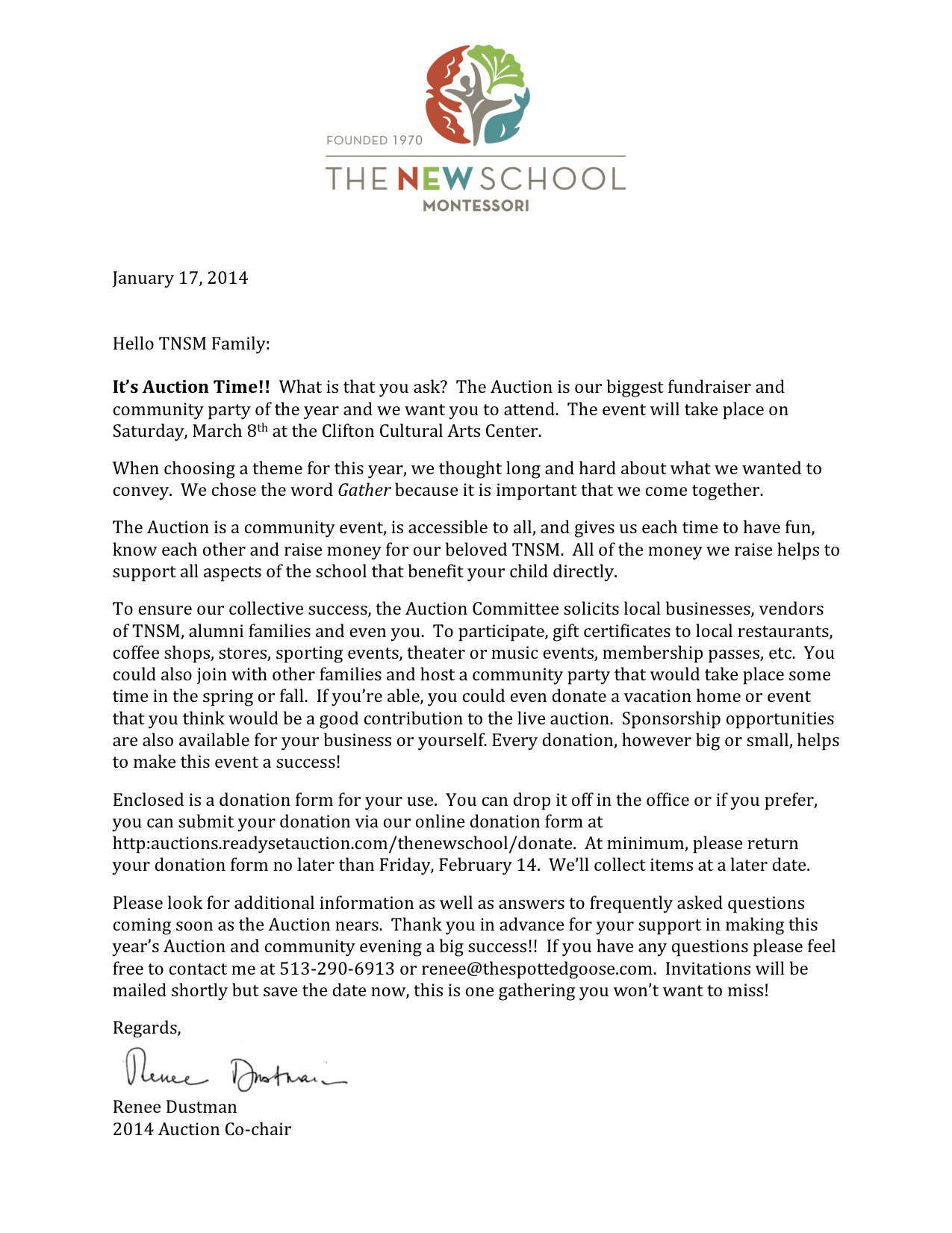 donation letter template for schools - auction letter and donation form the new school montessori