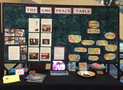 6-9) Teacher Kira Hinkle is very involved in peace education